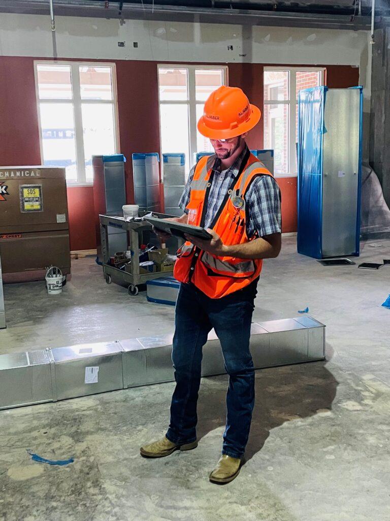 Ethan on the jobsite